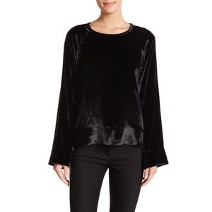 Equipment Abeline Velvet Pullover in True Black